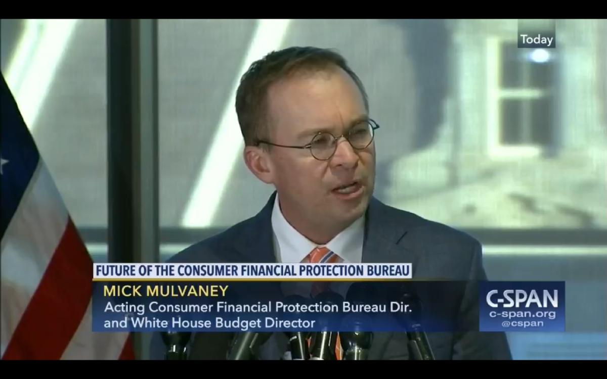 Mulvaney hopes to 'protect people without trampling on capitalism'